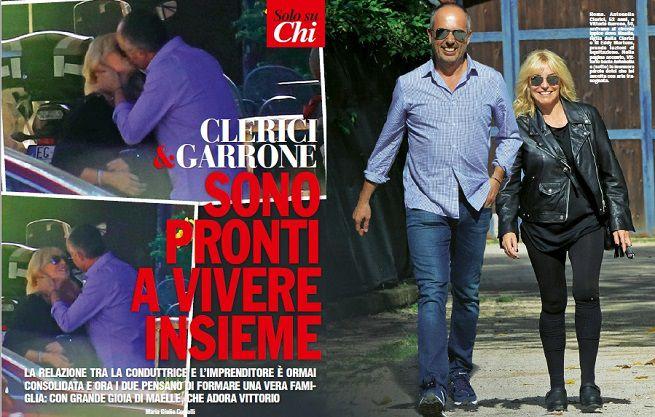 Antonella Clerici bacia Vittorio Garrone: è amore FOTO