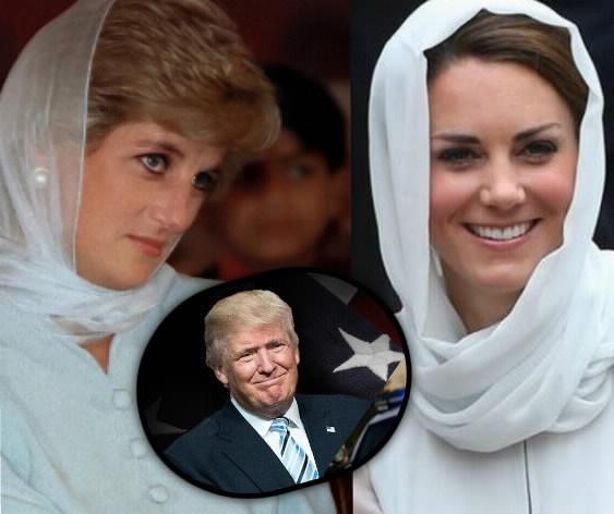 Kate Middleton, il retroscena nascosto tra Lady Diana e Trump