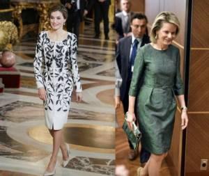 Letizia Ortiz, Matilde di Belgio: look a confronto FOTO