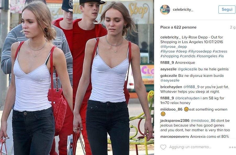 """Lily-Rose Depp troppo magra: """"Figlia di Johnny va aiutata"""" FOTO"""
