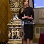 Maria Elena Boschi look: abito nero e tacchi FOTO