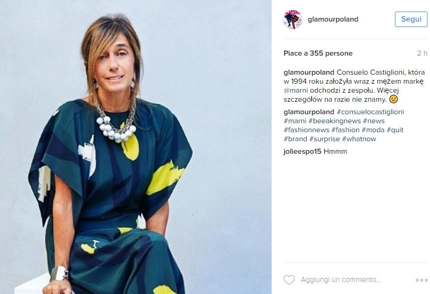 Marni, Consuelo Catiglioni lascia. Arriva Francesco Risso