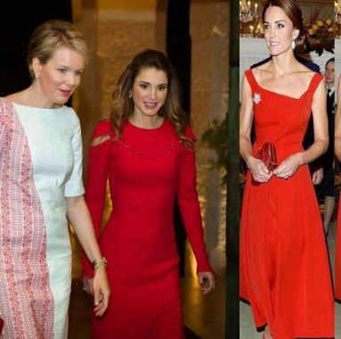 Rania di Giordania, Kate Middleton: quando il rosso è eleganza FOTO