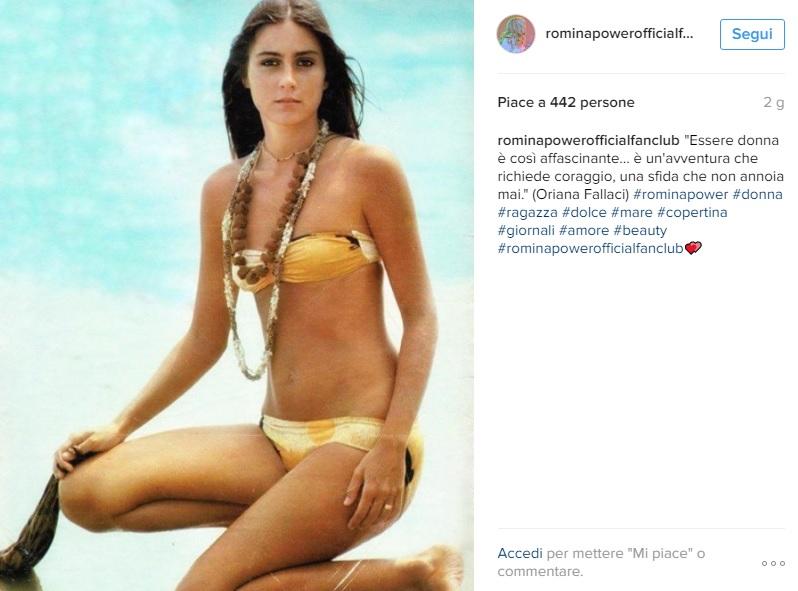 Romina Power in costume: FOTO ricordo su Instagram. Che fisico!