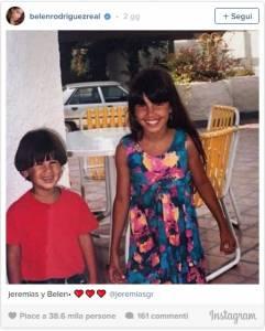 Belen Rodiguez e la FOTO da bambina: Jeremias assomiglia a Santiago
