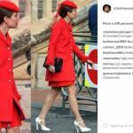 Charlotte Casiraghi, Kate Middleton impeccabili in rosso FOTO