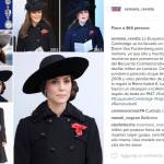 Kate Middleton: total black riciclato al Remembrance Day FOTO