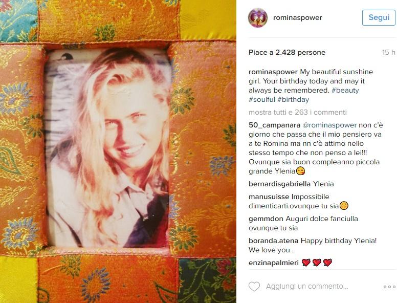 Romina Power, il dolore per la ricorrenza speciale FOTO