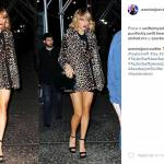 Taylor Swift sensuale: cappotto animalier e gambe in vista FOTO