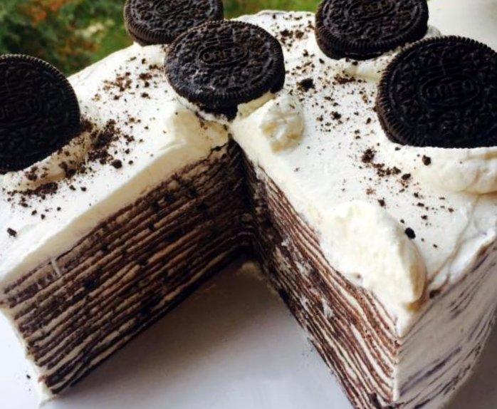 Oreo Mille Crêpes Cake...