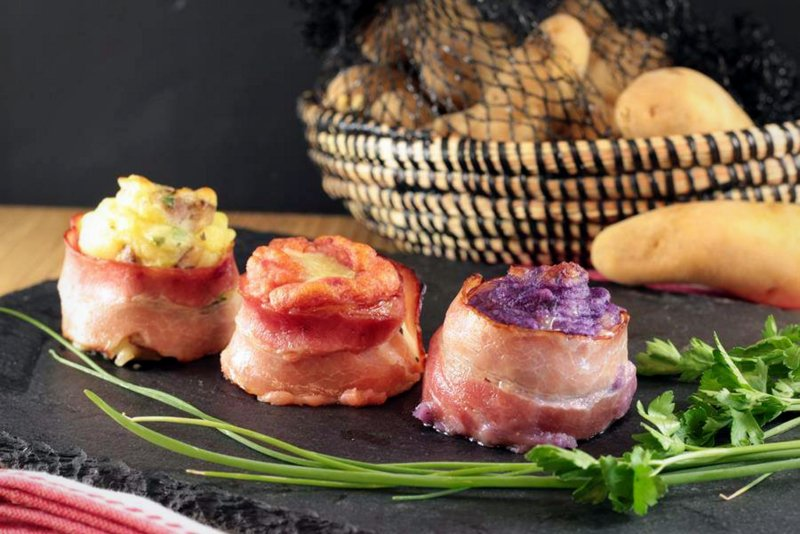 Bocconcini di Pancetta e Patate Colorate