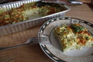 Lasagne di Pane con Pesto e Zucchine
