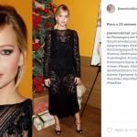 Jennifer Lawrence sensuale: look nero vedo non vedo FOTO