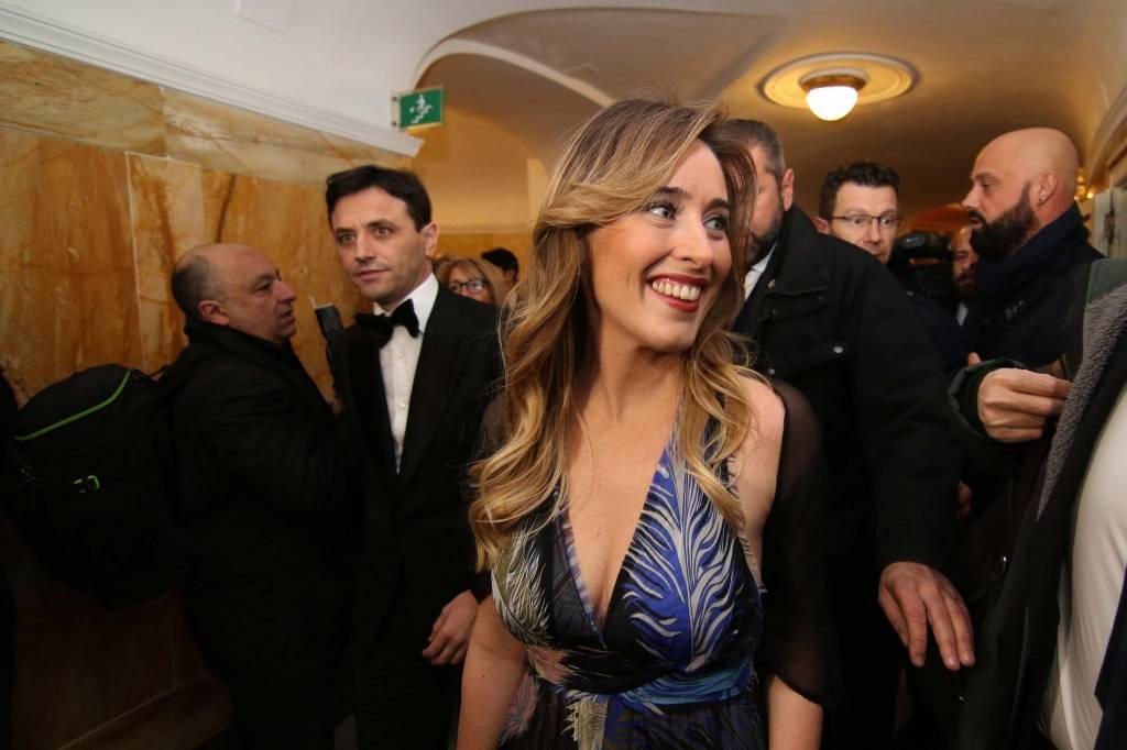 Maria Elena Boschi, bella e chic in abito scollato FOTO