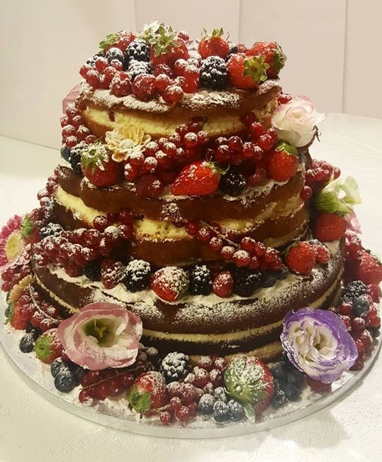 Naked Cake ai Frutti i Bosco