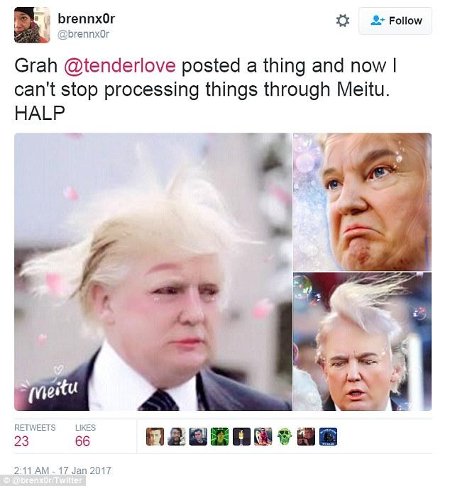 Meitu, l'app per fotoritocco che trasforma Donald Trump4