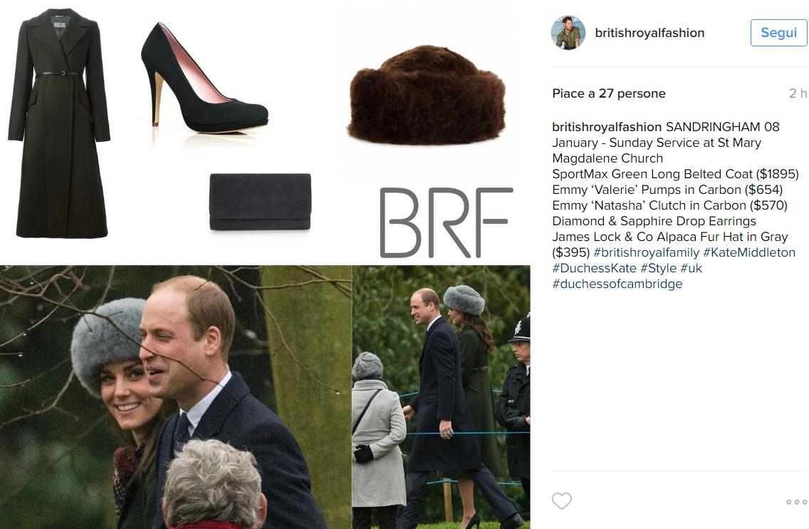 Kate Middleton  cappotto verde e cappello in pelliccia FOTO  29b0af0cb938