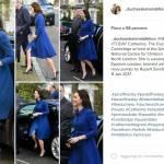 Kate Middleton osa: cappottino blu e spacco FOTO