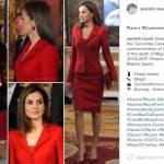 Letizia Ortiz look, impeccabile con il tailleur rosso FOTO