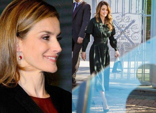Rania e Letizia Ortiz: look invernali impeccabili FOTO