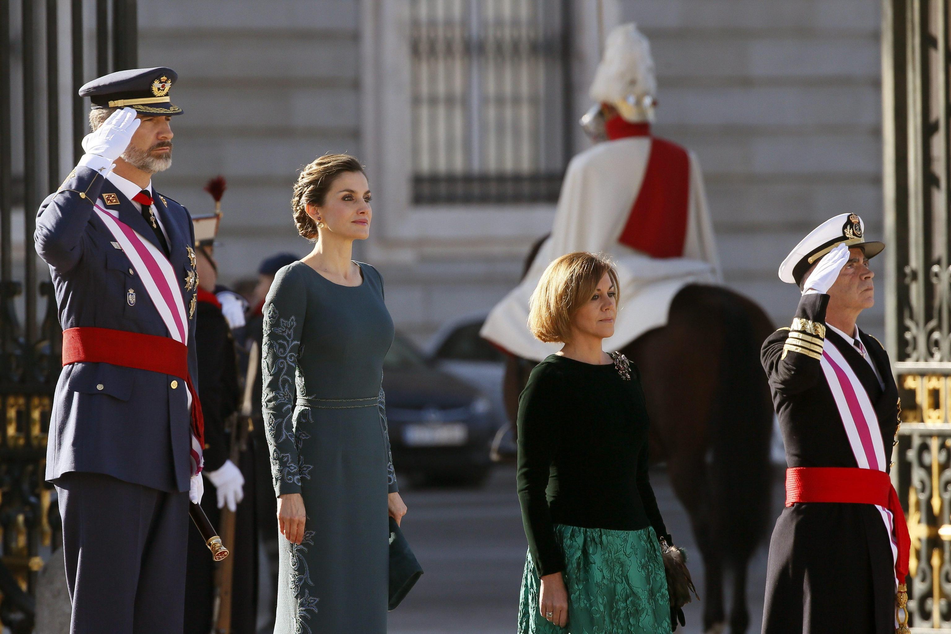 Letizia Ortiz look, abito lungo color petrolio FO