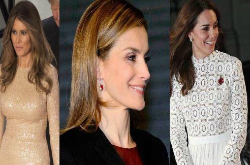 Melania Trump, Letizia Ortiz, Kate Middleton: look a confronto