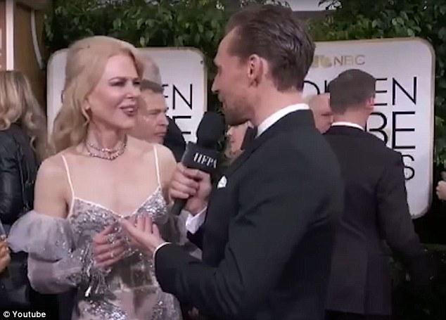 Nicole Kidman abito McQueen scollato ai Golden Globes