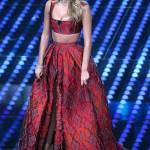 Diletta Leotta, abito rosso a Sanremo: chi è lo stilista FOTO