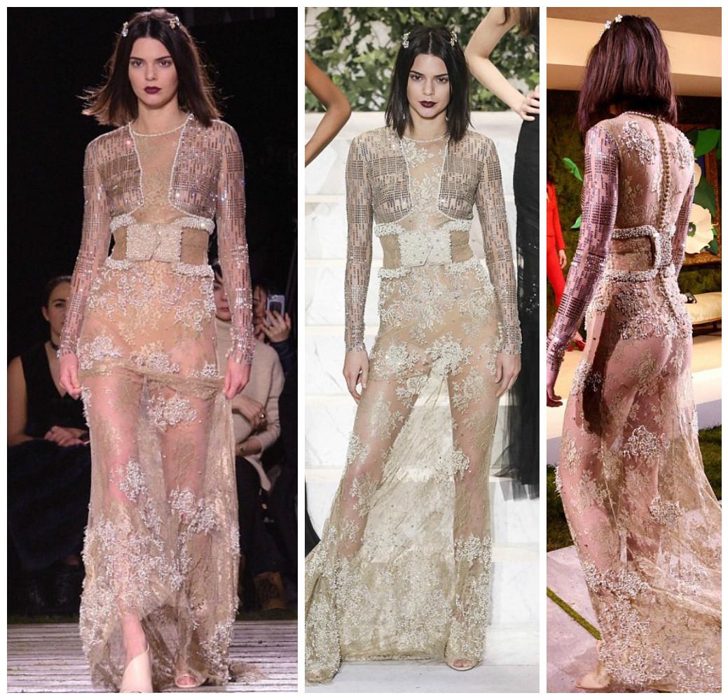 Kendall Jenner sensuale: abito trasparente vedo non vedo FOTO