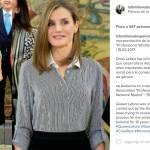 Letizia Ortiz look: gonna lunga nera e camicia FOTO
