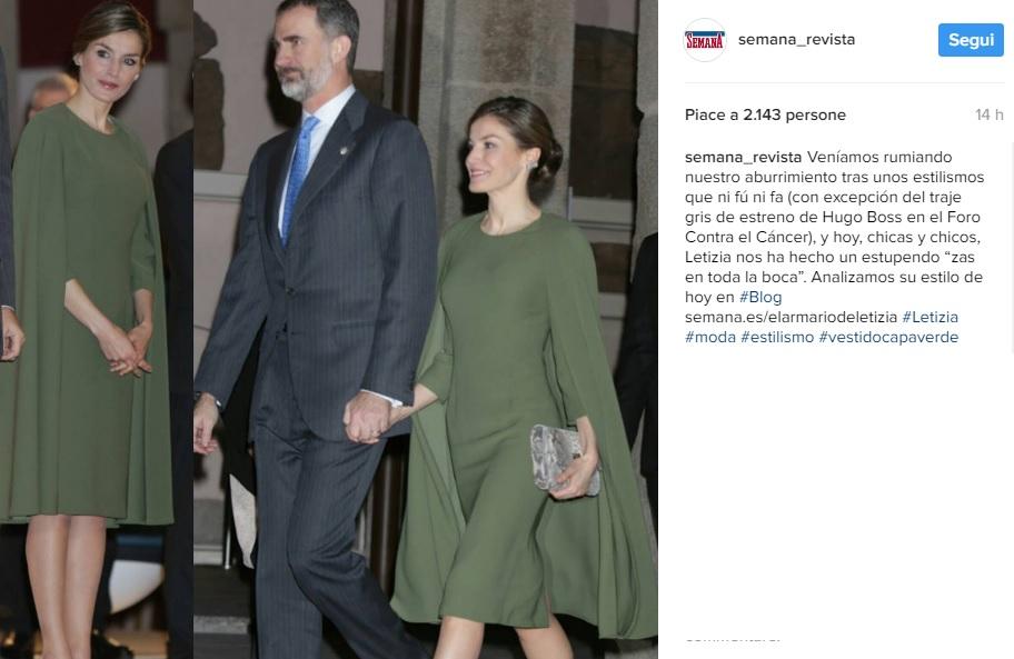 Letizia Ortiz, look invernale: cappottino e tacchi FOTO