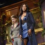 Naomi Campbell in sottoveste: gambe al top a 46 anni FOTO2