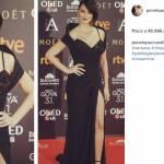 Penelope Cruz total black: abito Versace ai Goya Awards FOTO