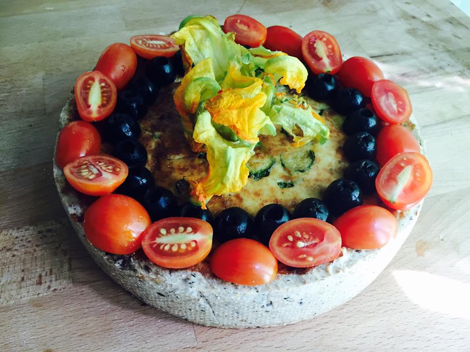 Crostata di Farro e Grano Saraceno alle Zucchine e Parmigiano