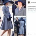 Kate Middleton look: cappotto riciclato e omaggio a... FOTO
