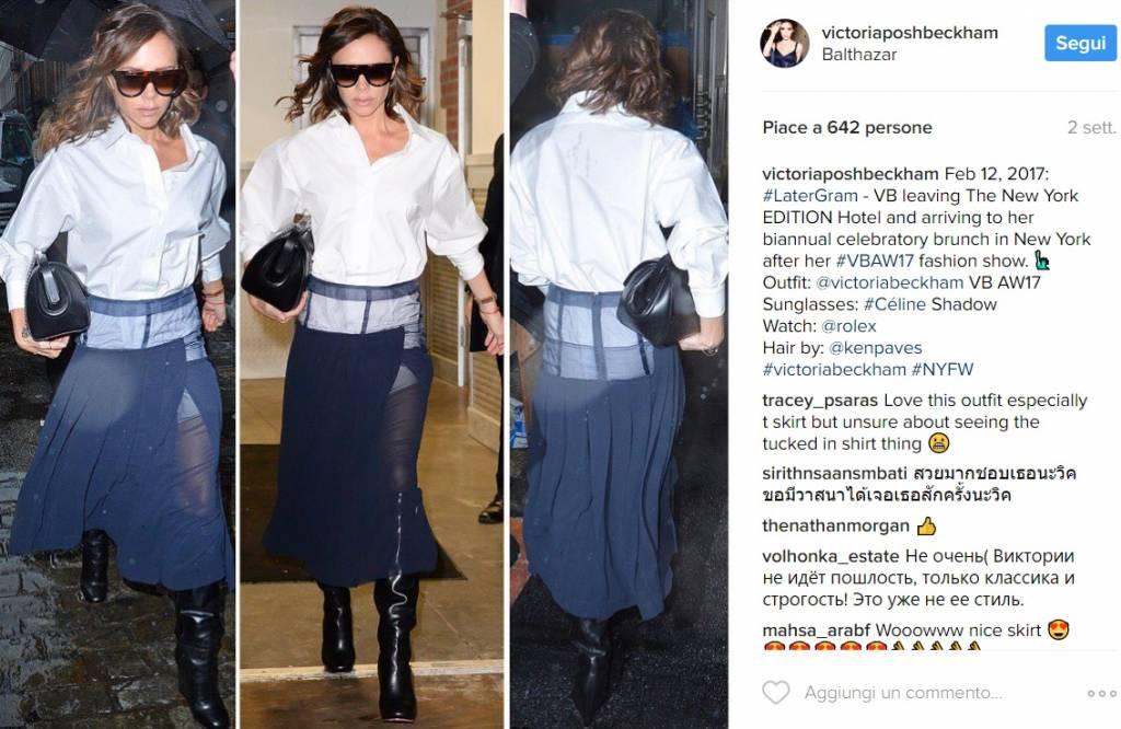 Victoria Beckham: la gonna effetto collant diventerà must-have FOTO