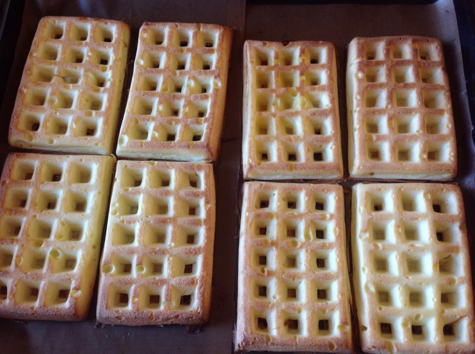 Waffle al forno senza glutine
