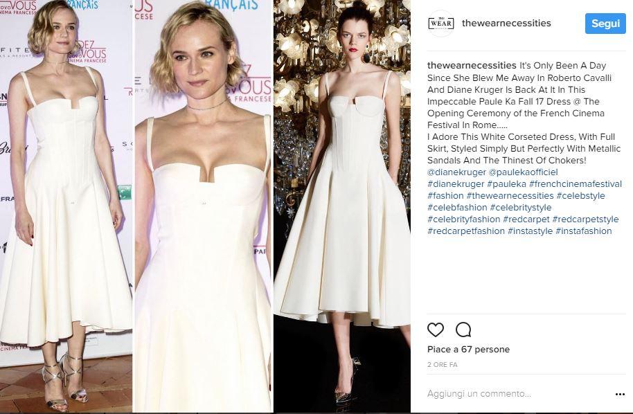 Charlotte Casiraghi, Diane Kruger: total white a confronto FOTO