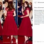 Kate Middleton, trasparenze e pizzo rosso ma quel particolare... FOTO
