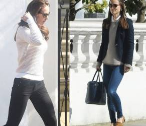 Kate Middleton e Pippa: look casual chic a Londra FOTO