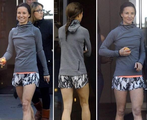 Kate Middleton, Pippa in shorts sportivi: gambe in vista FOTO