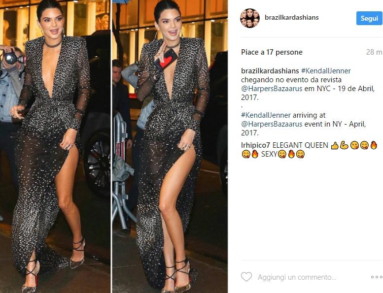 Kendall Jenner esagerata: scollatura e spacco estremi FOTO