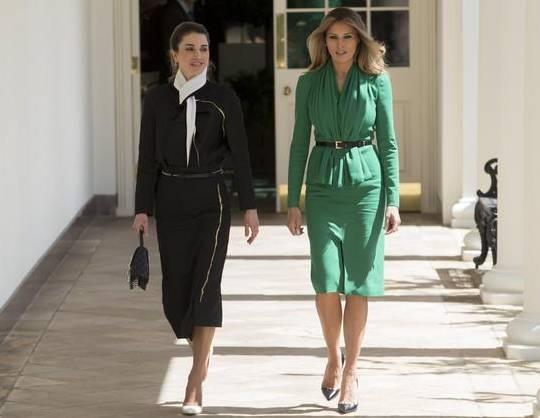 Rania di Giordania, Melania Trump: sfida di look FOTO