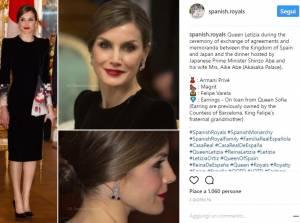 Letizia Ortiz incantevole in Armani: look impeccabile FOTO