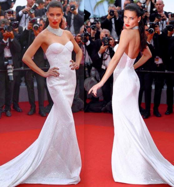 Cannes, Rihanna total black. Adriana Lima sceglie il bianco