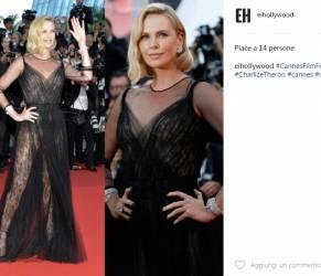Charlize Theron total black a Cannes: abito firmato Dior FOTO