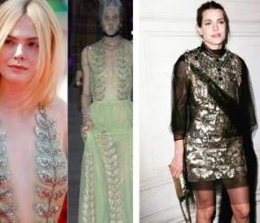 Charlotte Casiraghi, Elle Fanning: look Gucci a confronto FOTO