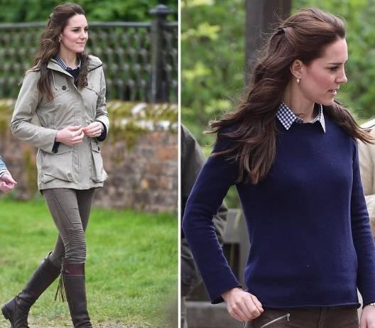 Kate Middleton, chic in giacca sportiva e skinny FOTO