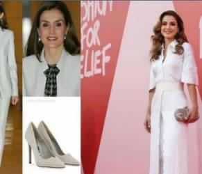 Letizia Ortiz, Rania di Giordania: impeccabili in total white FOTO