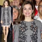 Letizia Ortiz look: con l'abito grigio è un incanto FOTO